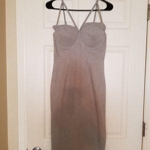 Carlie Bybel x Missguided grey dress
